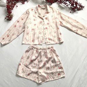 Gilligan & O'Malley 2 piece pajama set sz S